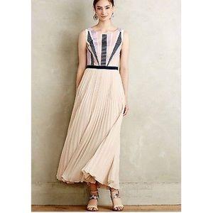 Anthropologie Maeve Dawning Maxi Dress Blush Sz 2